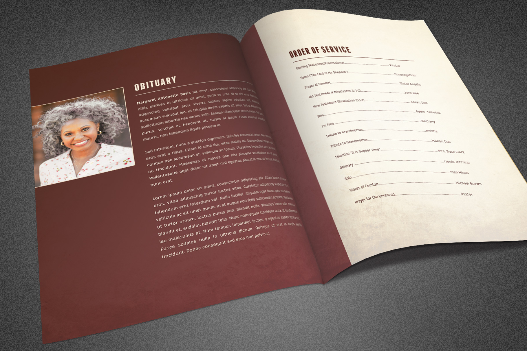 Funeral and Memorial Program example image 3
