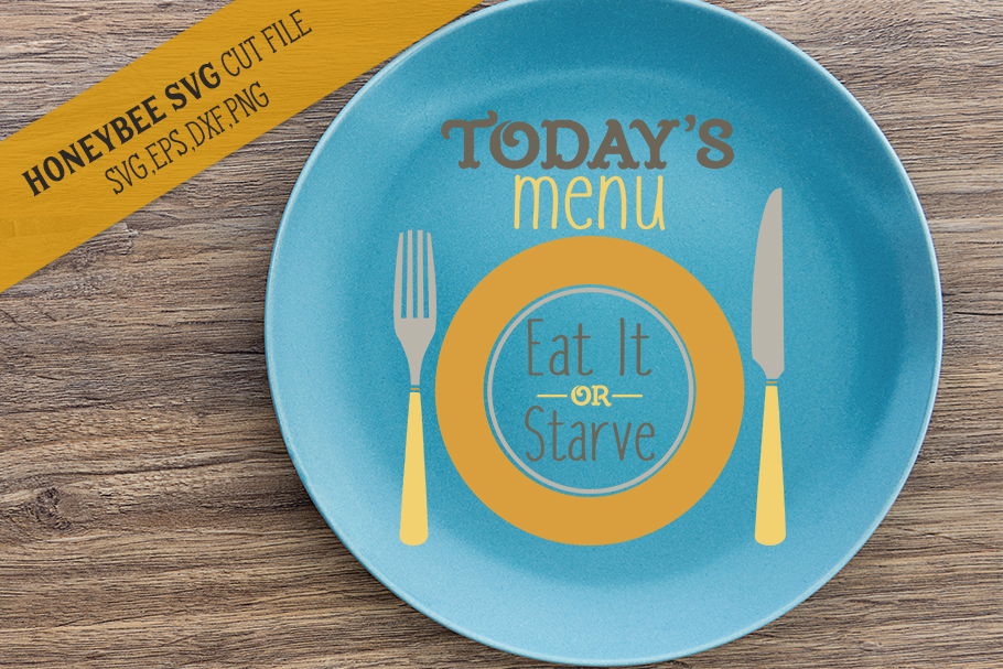 Today's Menu Plate svg example image 1