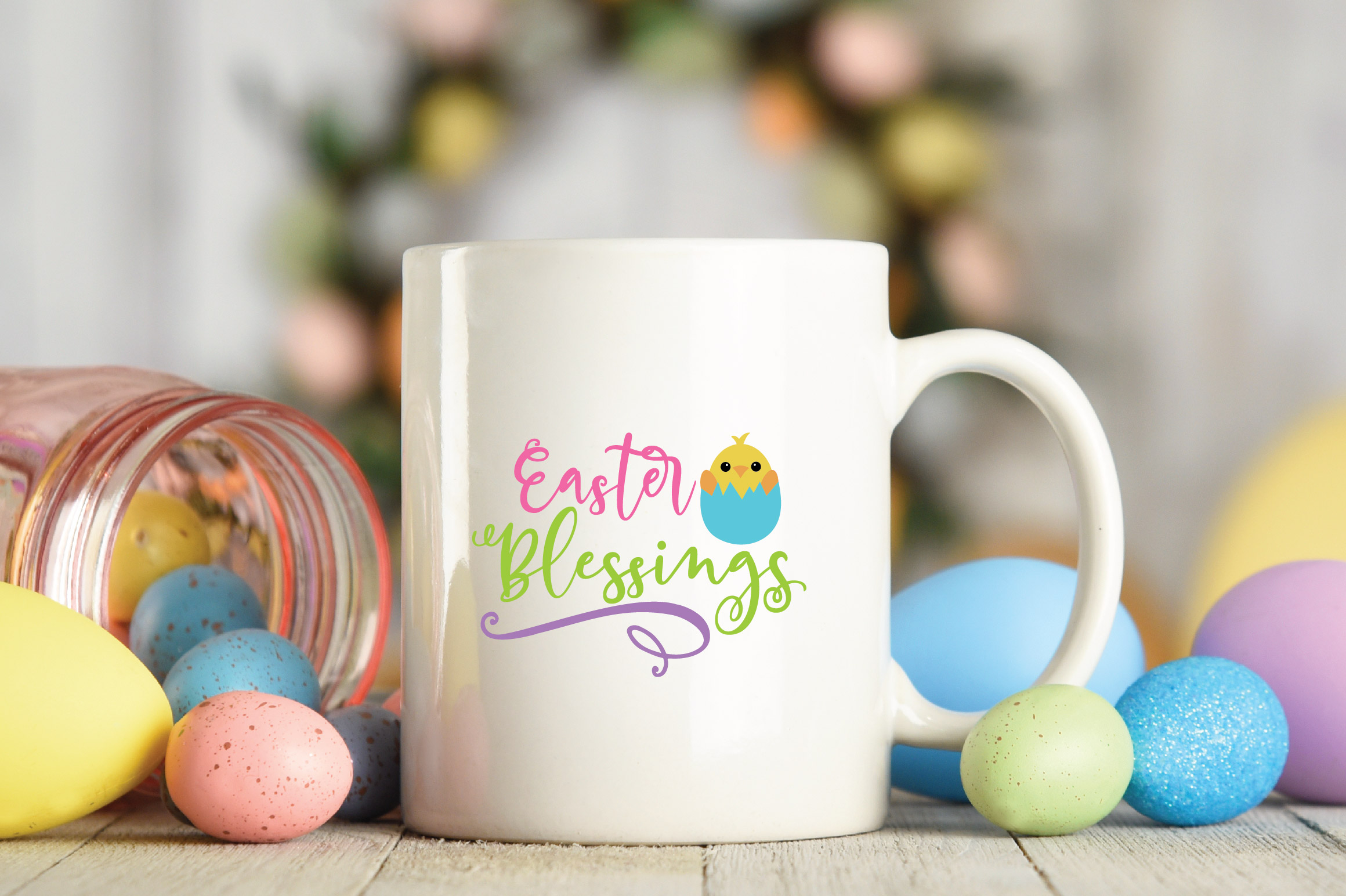 Easter SVG Cut File - Easter Blessings SVG DXF EPS PNG AI example image 5
