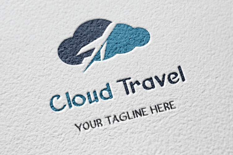Travel Cloud Shape Logo example image 4