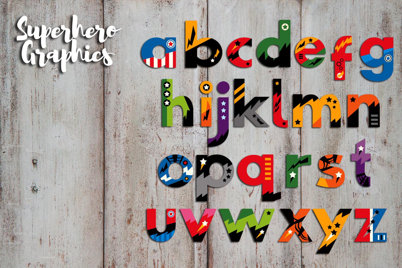 Superhero Alphabet and Punctuation - Graphics Bundle example image 7