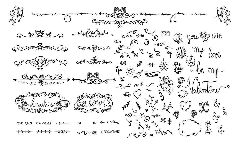 Valentine Wedding Love Doodles example image 2