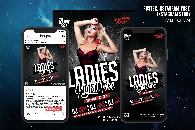 Ladies Night Vibe Club Template example image 1