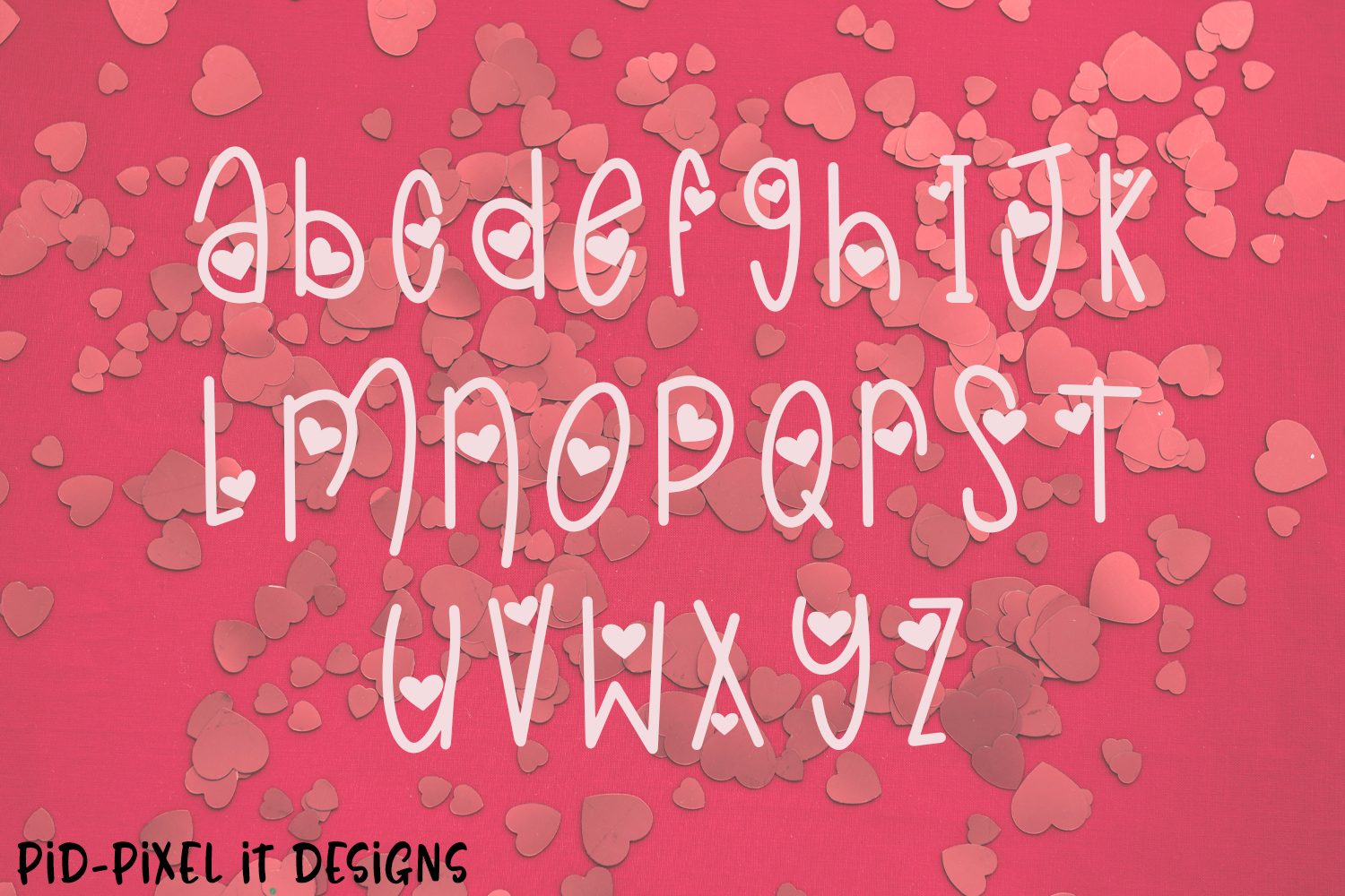 LoveFest A Cute Heart Font example image 3