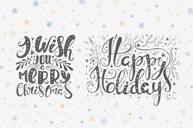 Vector Christmas lettering + bonus example image 5
