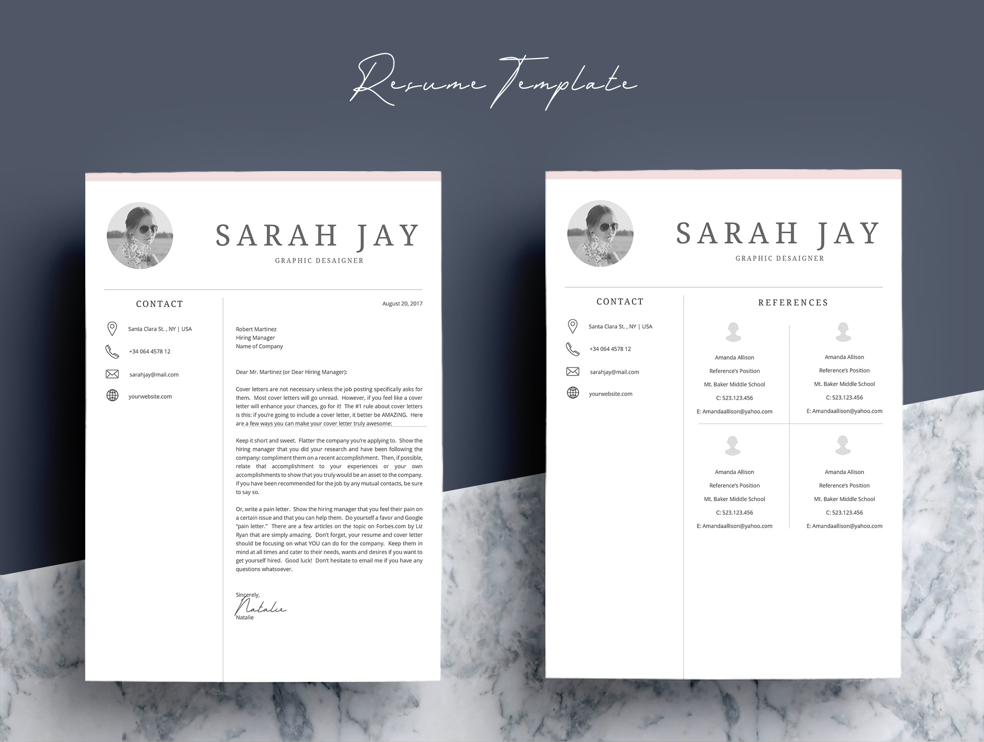 Professional Resume Template Desaign example image 7