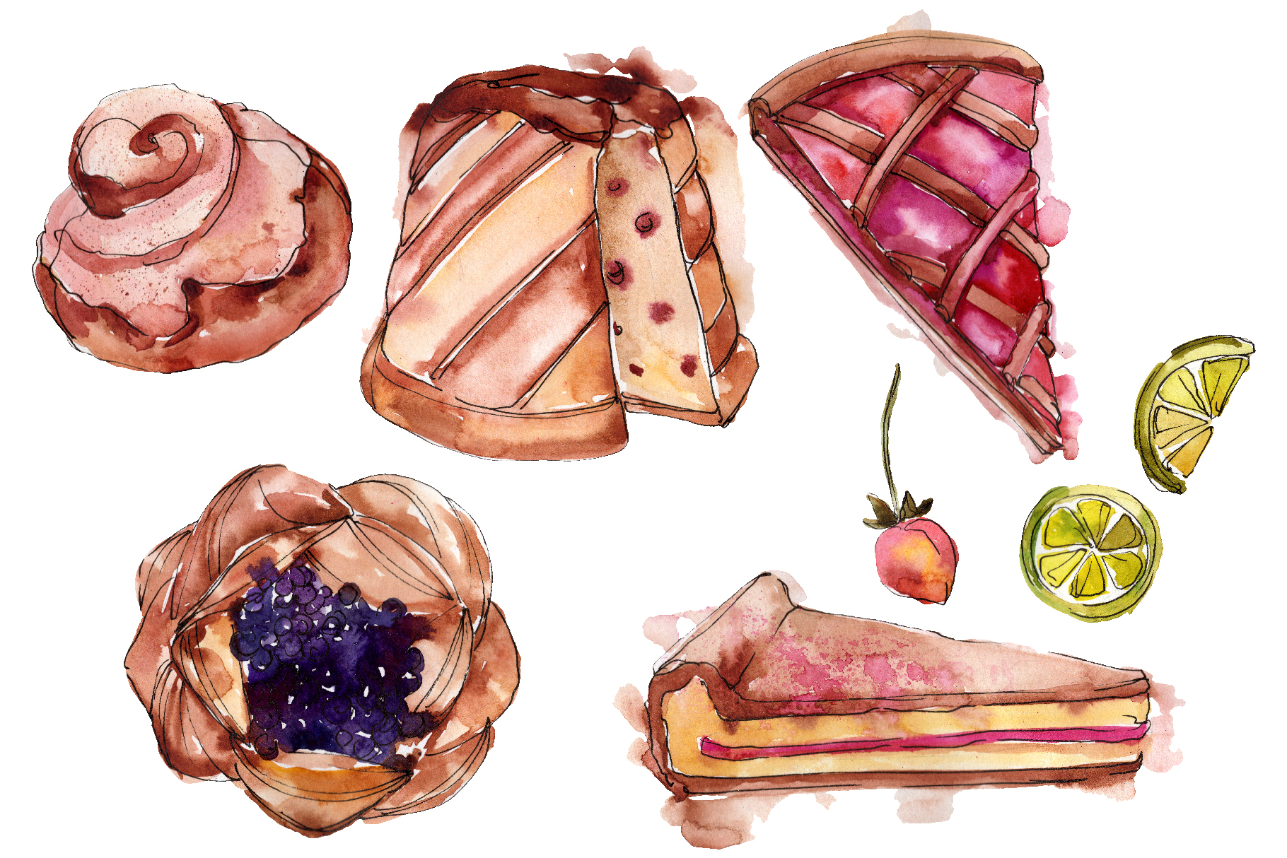 Desert around the world Watercolor png example image 1