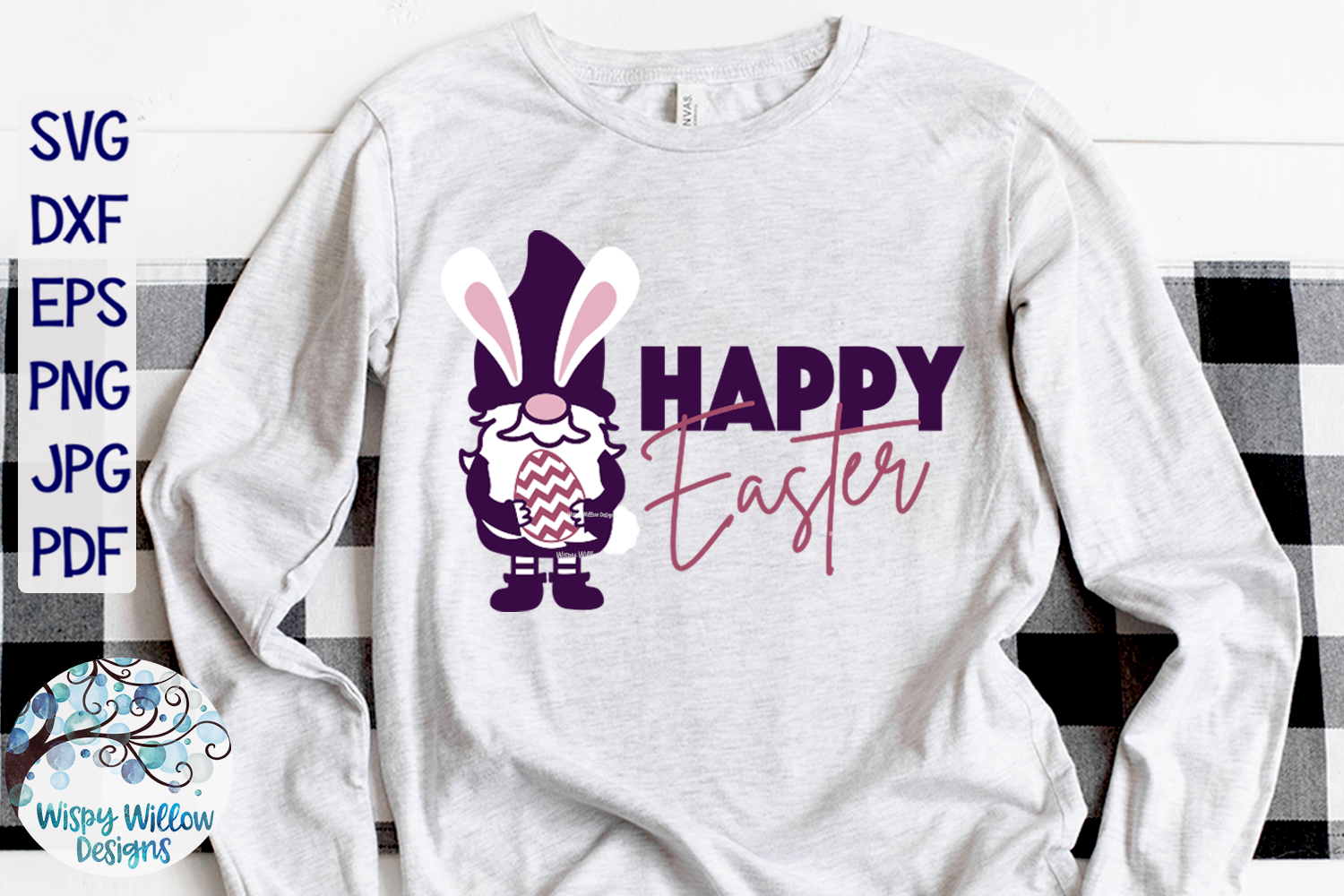 Happy Easter Gnome SVG | Easter Bunny Gnome SVG Cut File example image 1