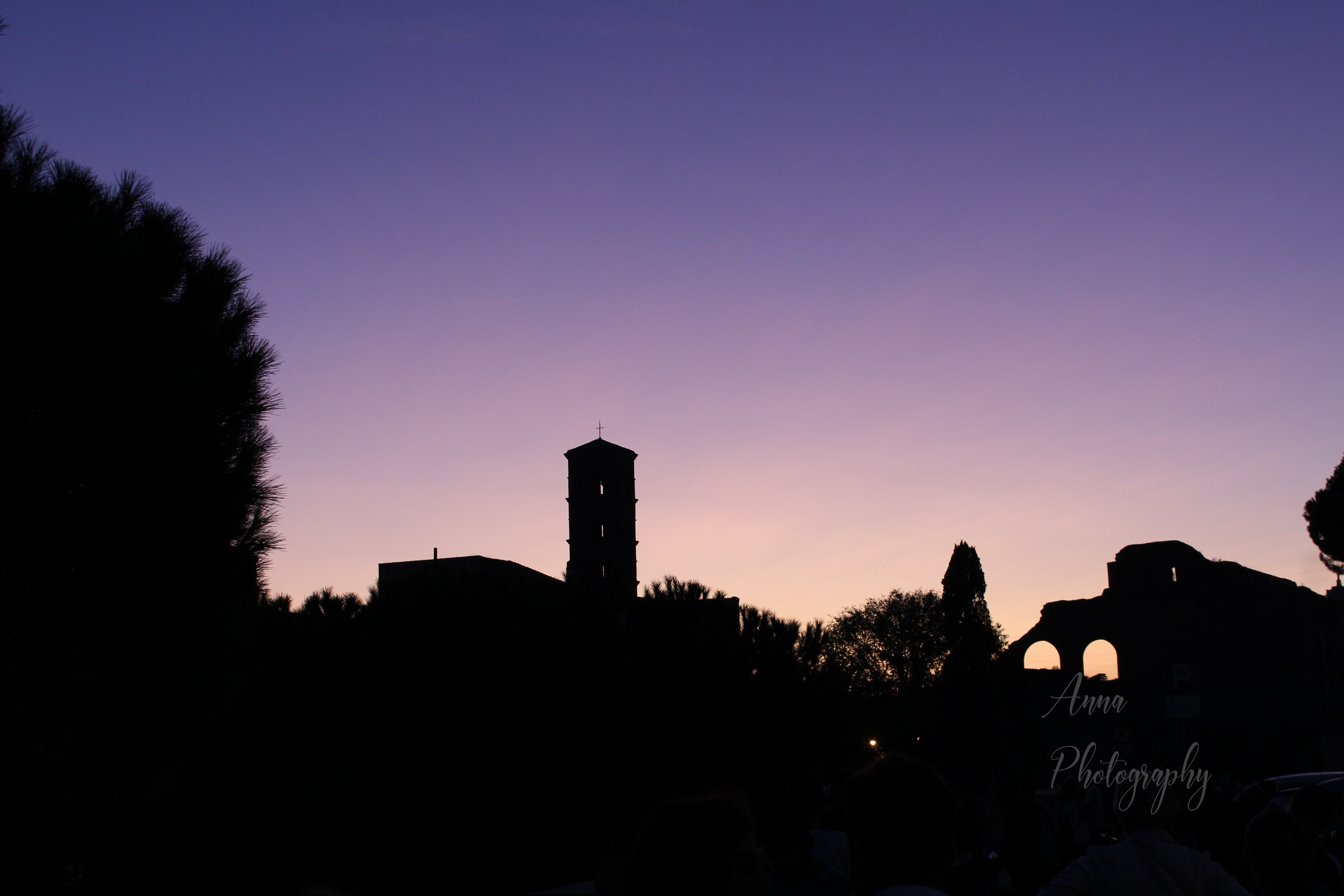 Rome Sunset Silhouette example image 1
