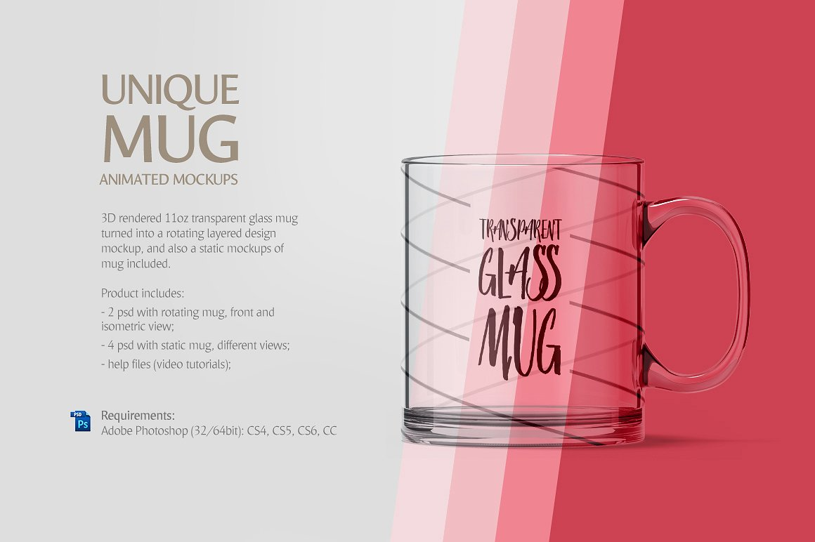 Glass Mug Animated Mockup example image 2