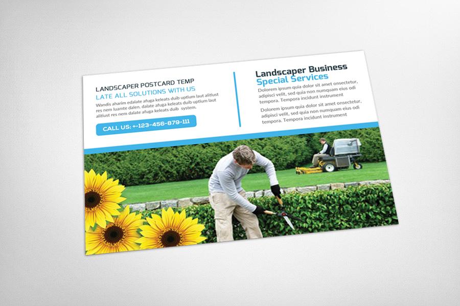 Landscaper Postcard Template example image 3