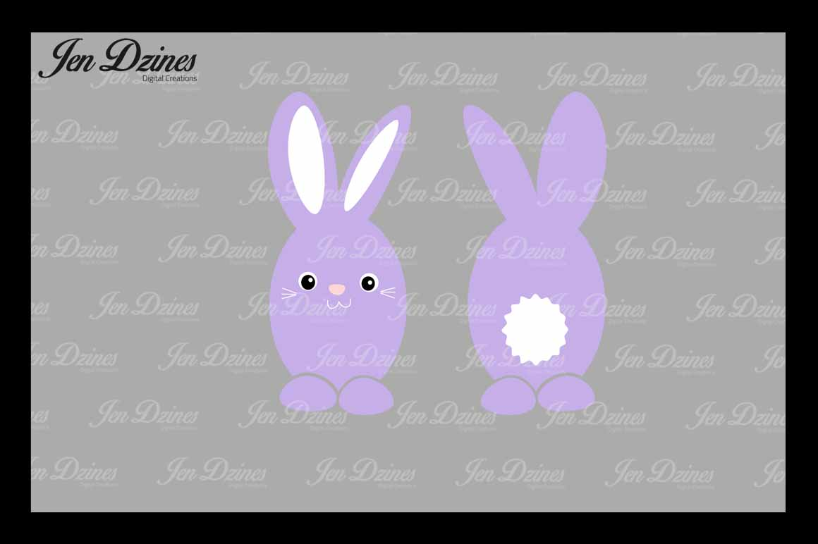 Easter Bunny Bundle SVG DXF EPS PNG example image 2