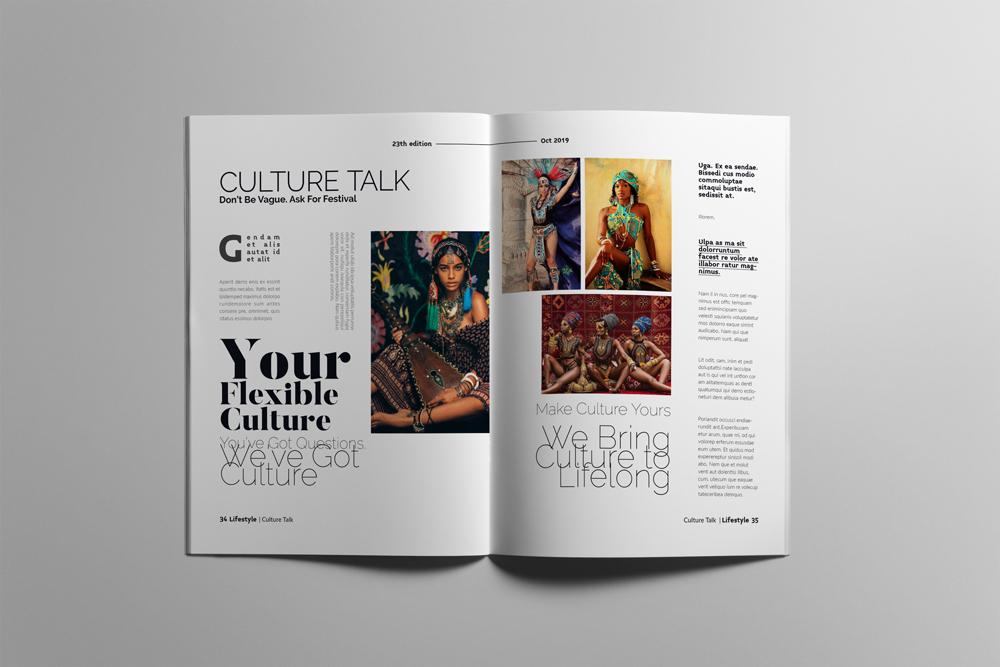 Fashion Magazine Layout Template example image 18