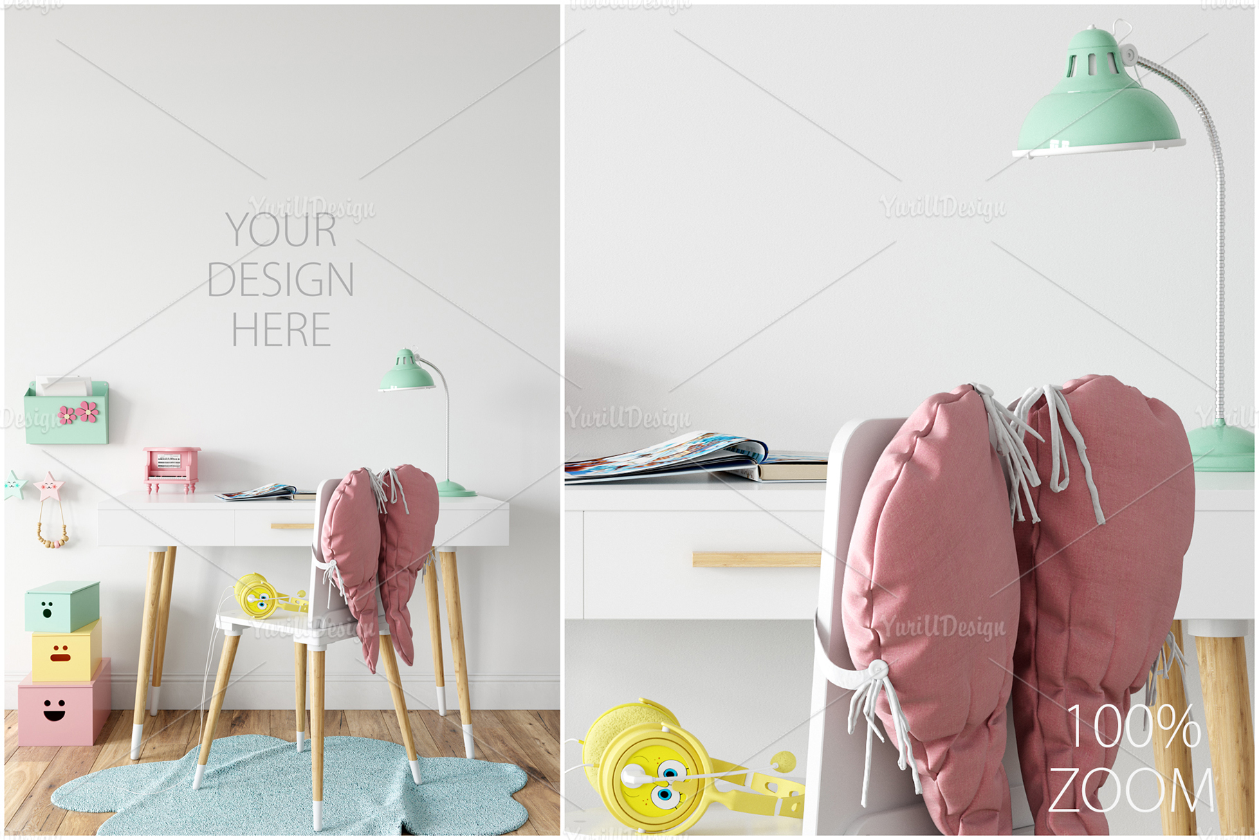 Kids Frames & Wall Mockup Bundle - 5 example image 22