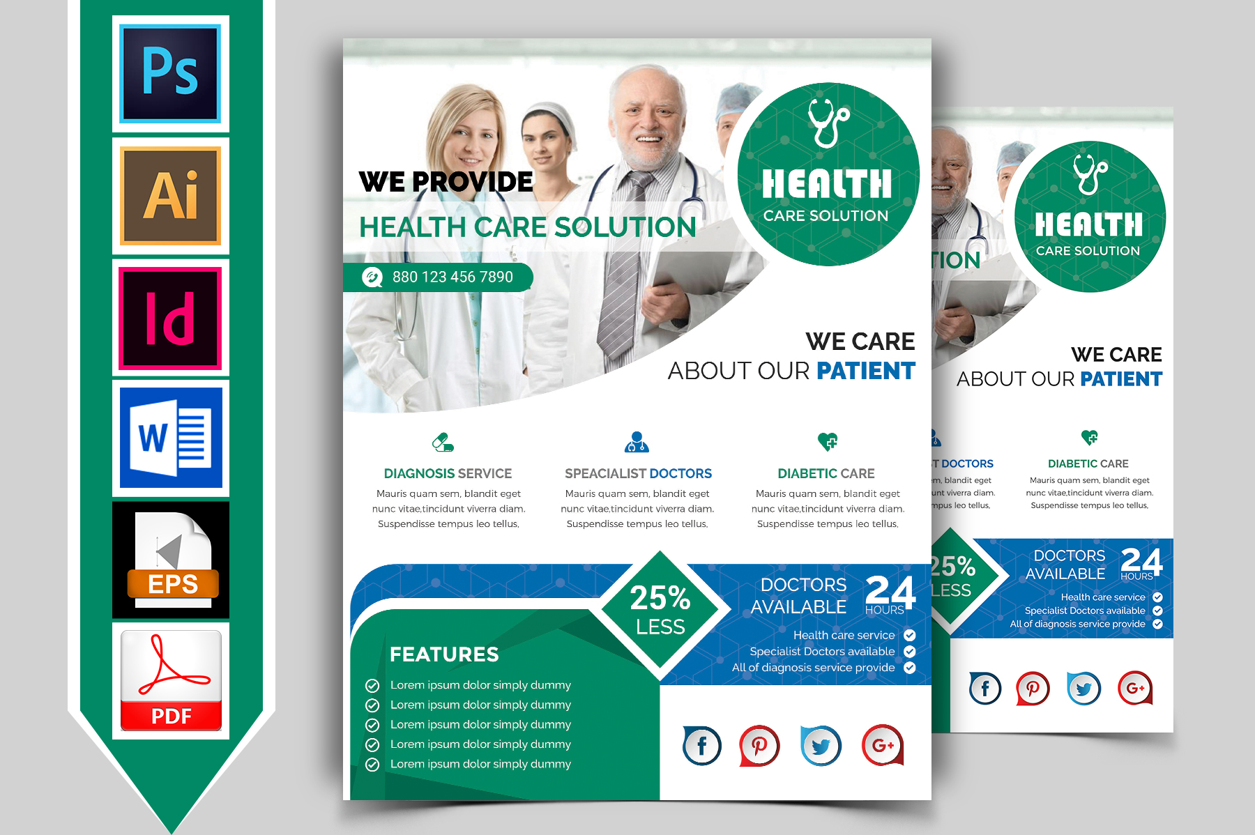 Doctor & Medical Flyer. Vol-01 example image 1
