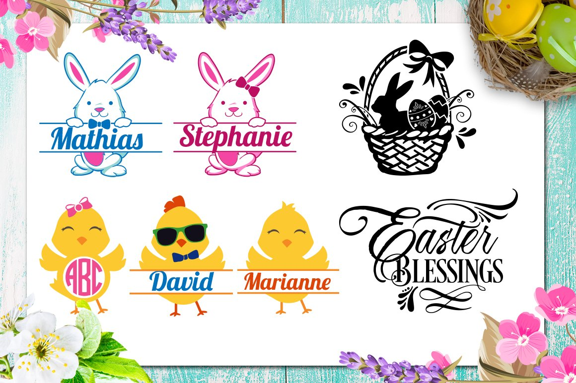 Easter Bundle - 30 Easter SVG files Bundle Easter SVG file example image 2
