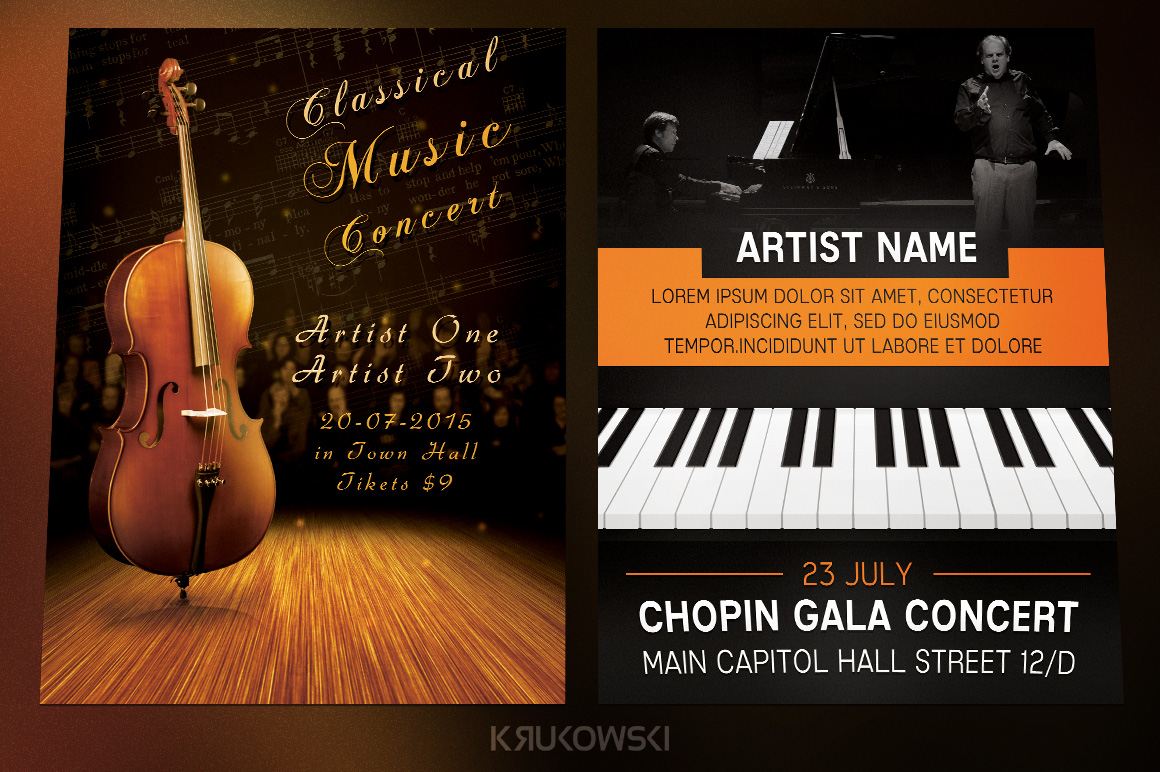 Classical Music Event Flyers Bundle example image 2