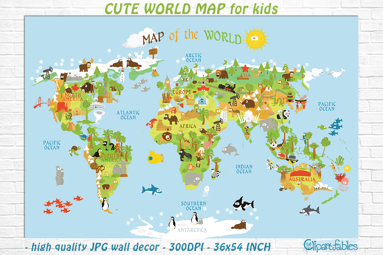 image about Printable Map for Kids named Lovely Printable Global MAP for young children - gender impartial place artwork