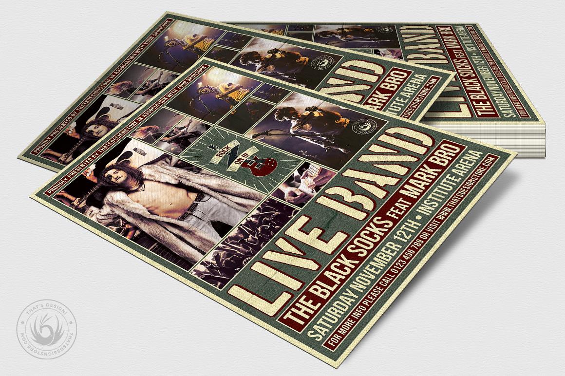Live Concert Flyer Template V6 example image 4