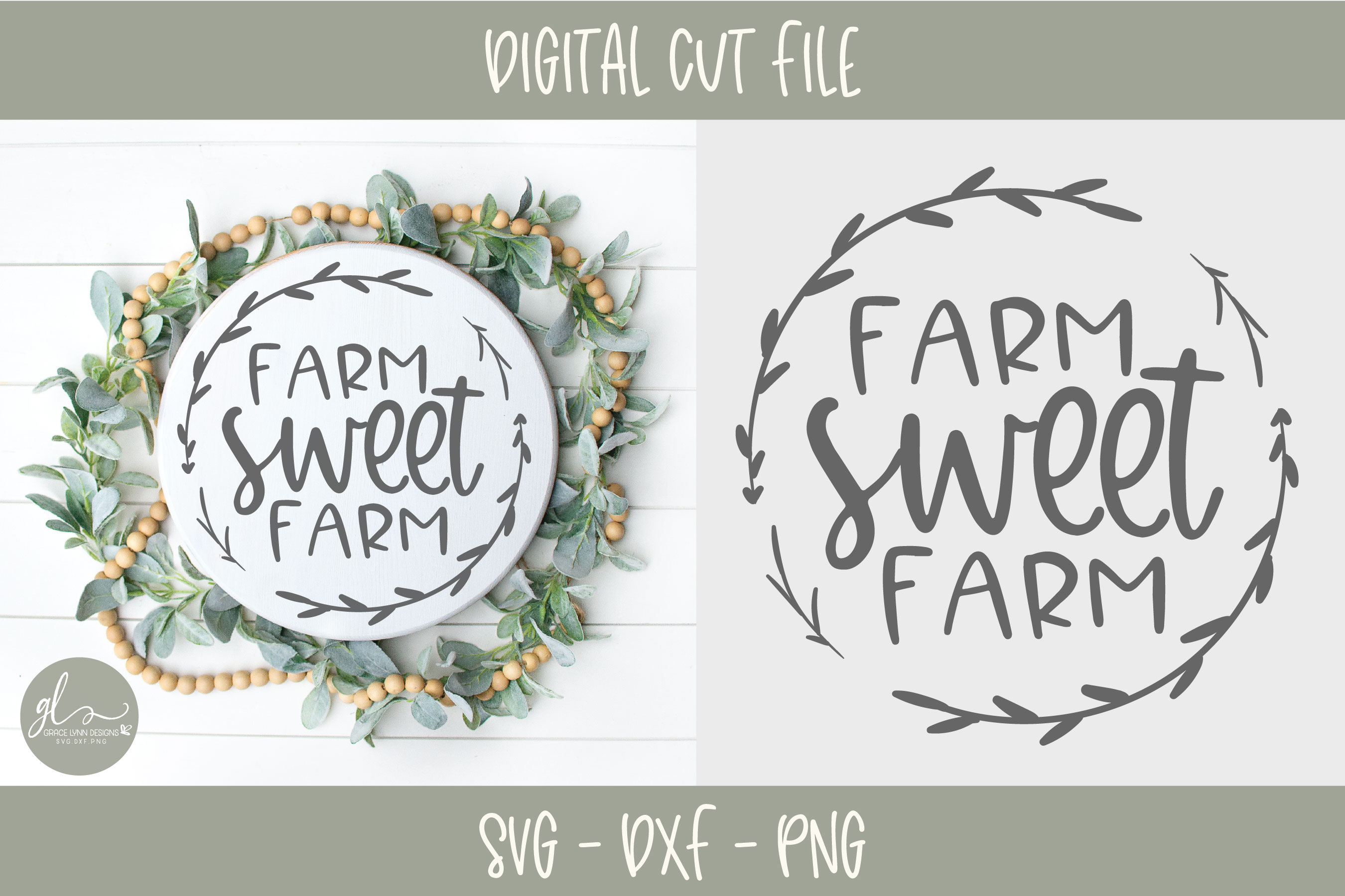 Farm Sweet Farm - Digital Cut File - SVG, DXF & PNG example image 1