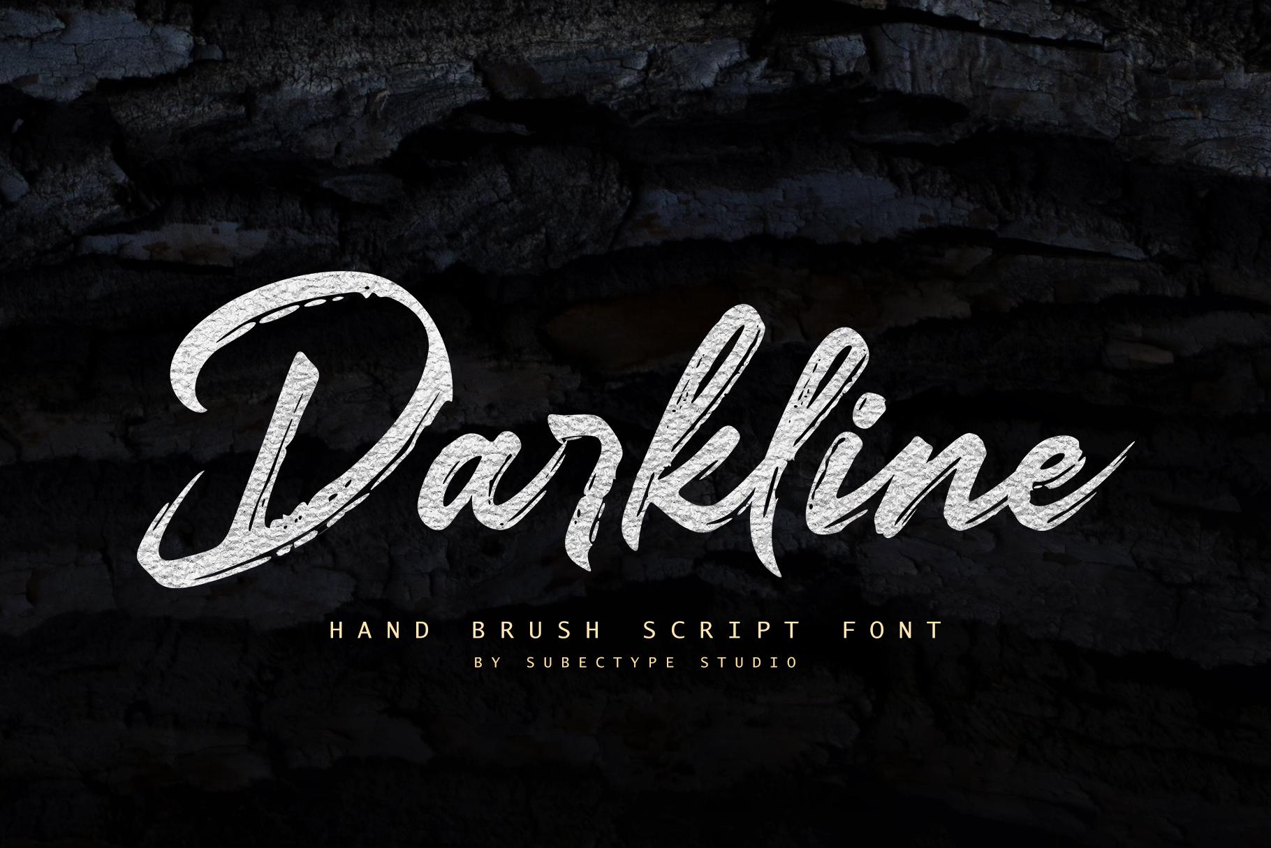 Darkline Brush Script Font example image 12