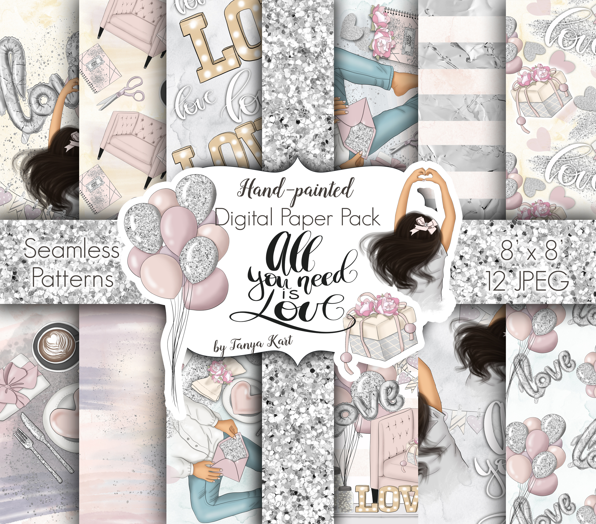 All You Need Is Love Graphic Design KIt example image 3