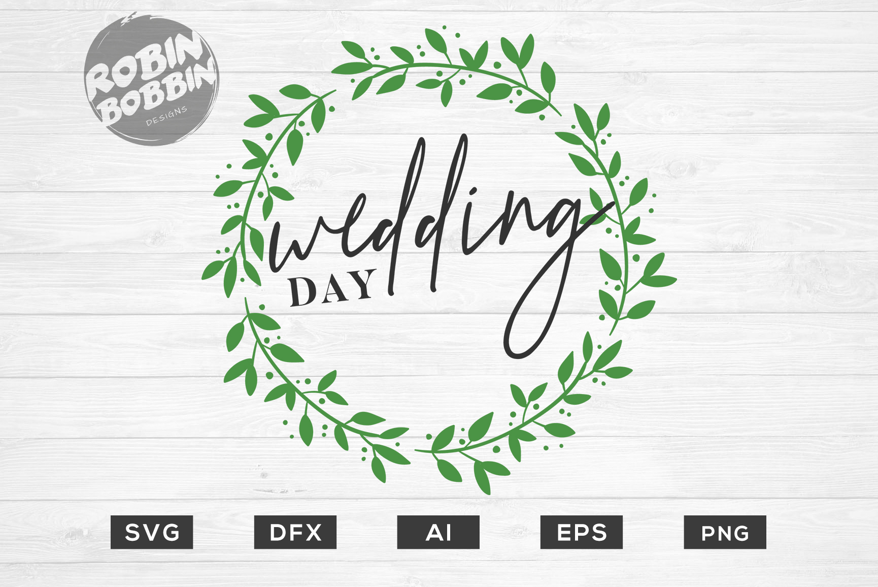 Wedding Day SVG File - Wedding SVG PNG EPS Cutting Files example image 1