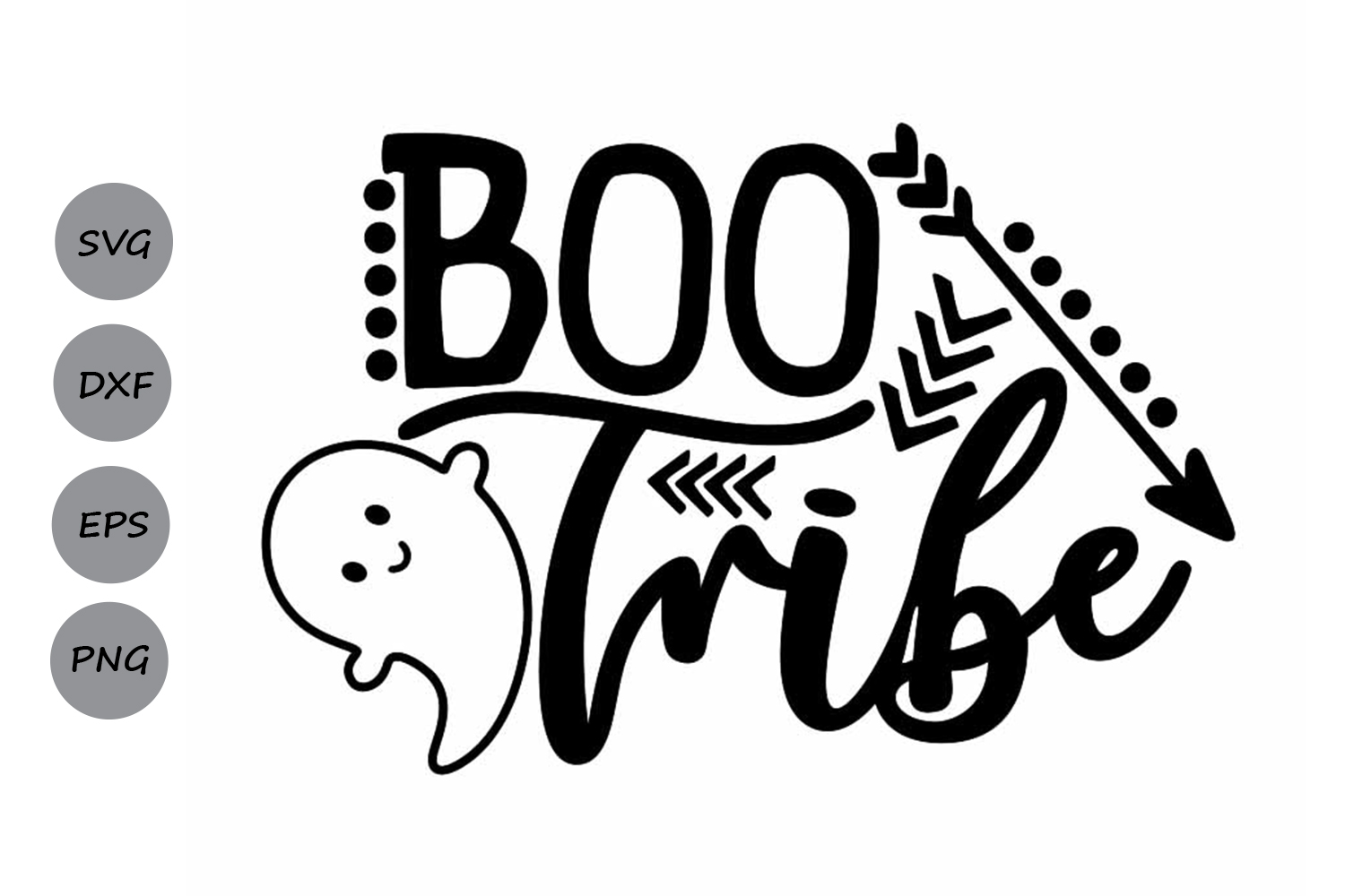 Boo Tribe Svg, Halloween Svg, Ghost Svg, Ghoul Svg. example image 1