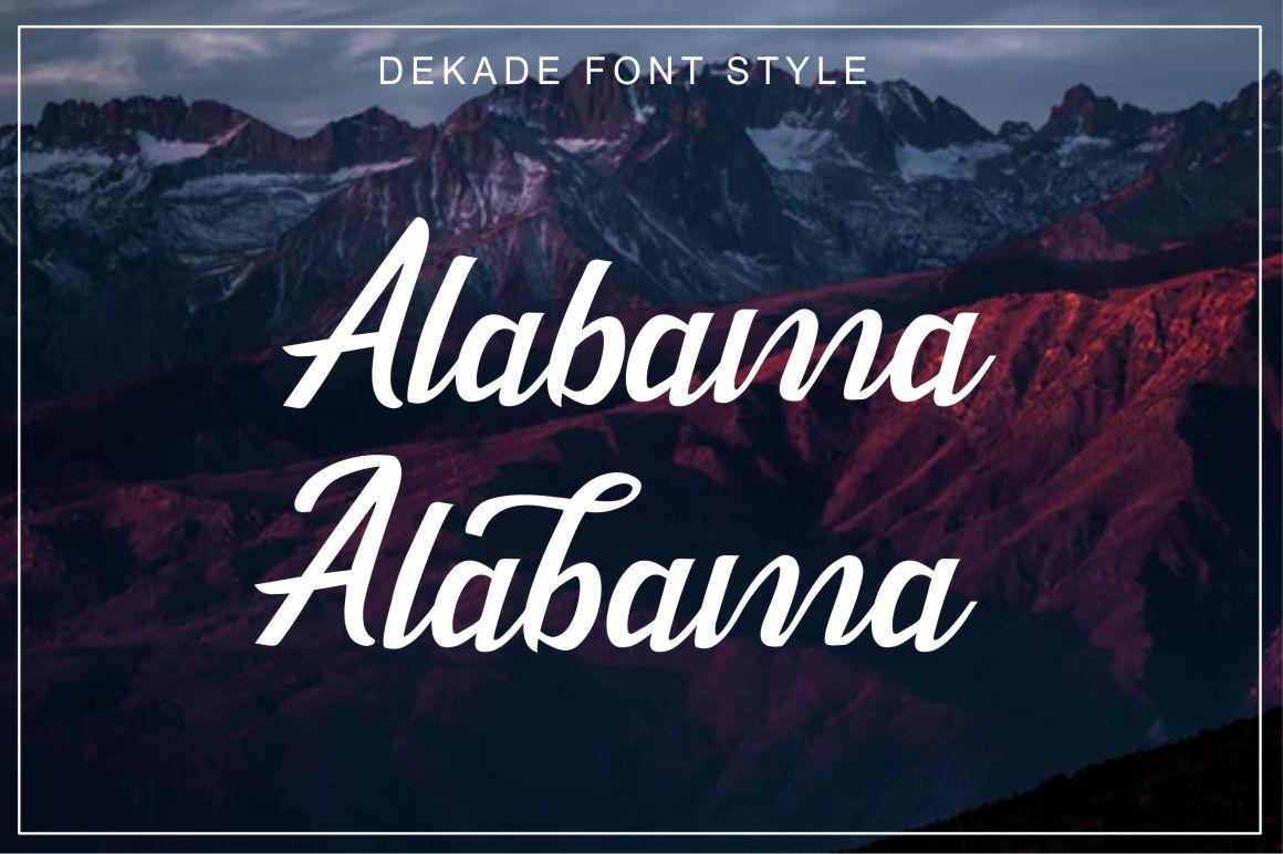 Dekade Brush Font + Swash example image 3