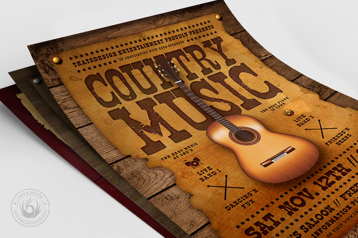 Country Music Flyer Bundle V2 example image 8