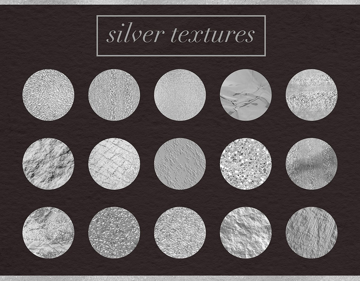 Luxury Silver Textures example image 2