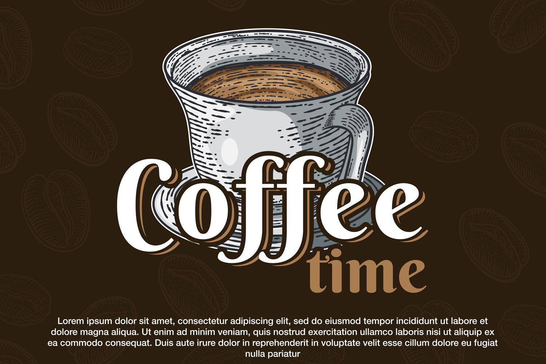 15 designs - Coffee restaurant brochure vector, coffee shop example image 11