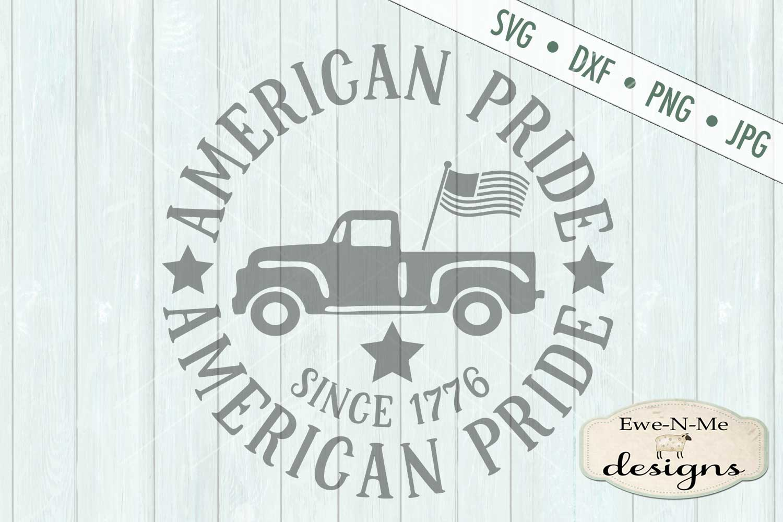 American Pride Vintage Truck SVG DXF Files example image 2
