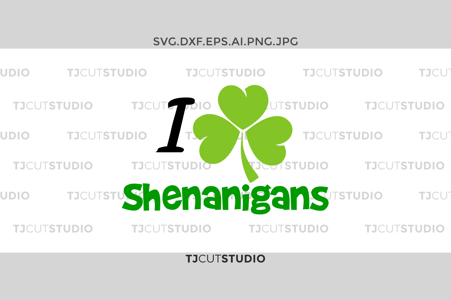 I love shenanigans svg, shamrock svg, shenanigans svg, st patricks day svg, st patricks day svg, Svg Files for Silhouette Cameo or Cricut . example image 1