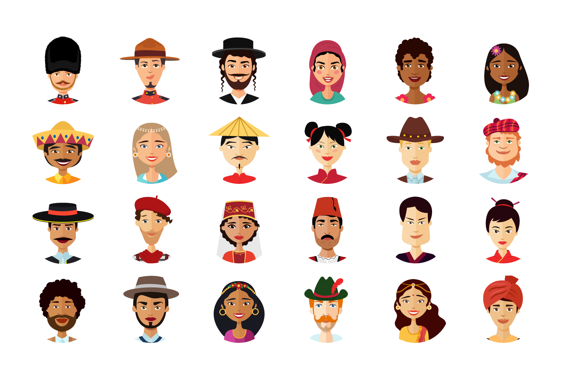 24 Multicultural national avatars example image 3