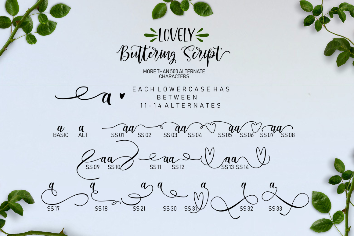 Lovely Buttering Font Duo & Extras example image 6