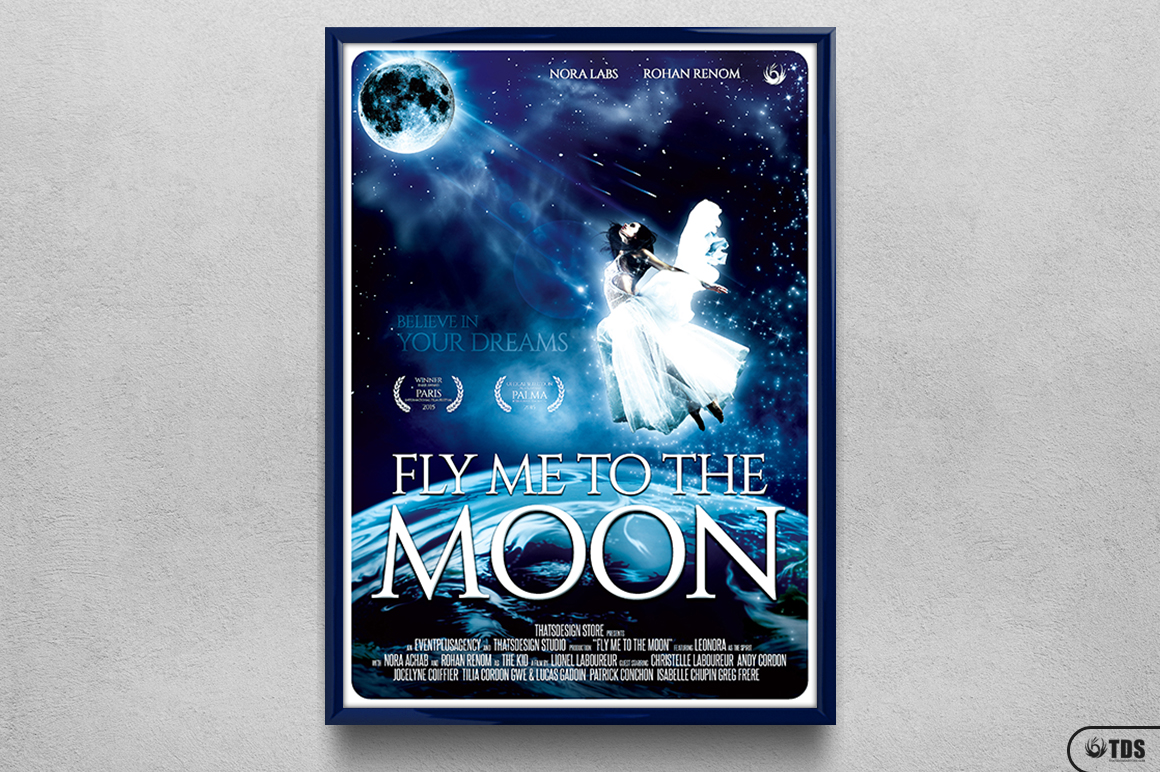 Fly Me to the Moon Movie Poster Template example image 6