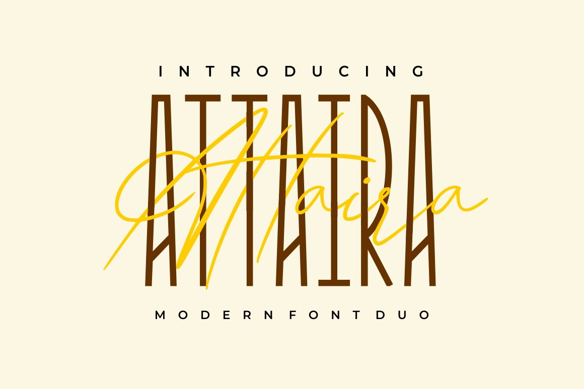 Attaira - Display And Signature Font example image 1