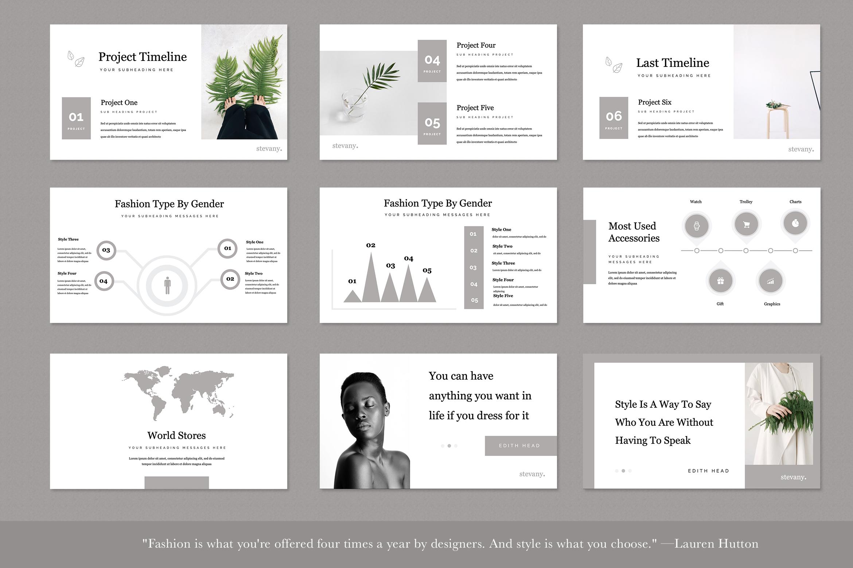 Stevany Lookbook Presentation Templates example image 5