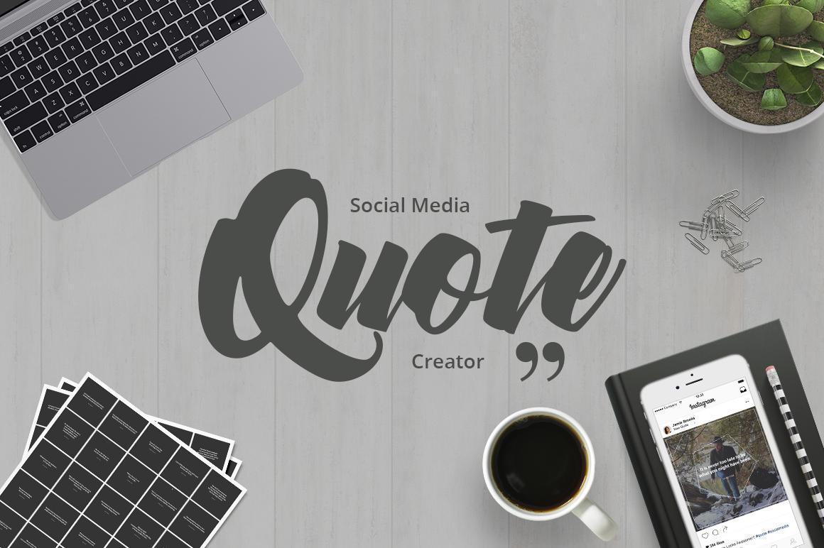 Social Media Quote Creator example image 1