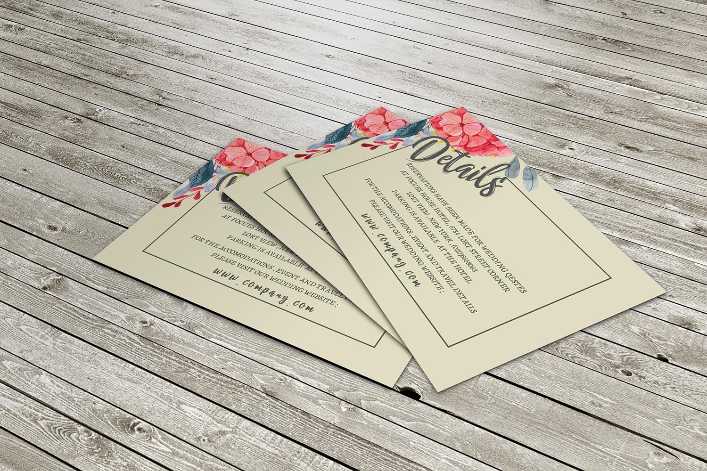 Watercolor flower Wedding invitation set example image 3