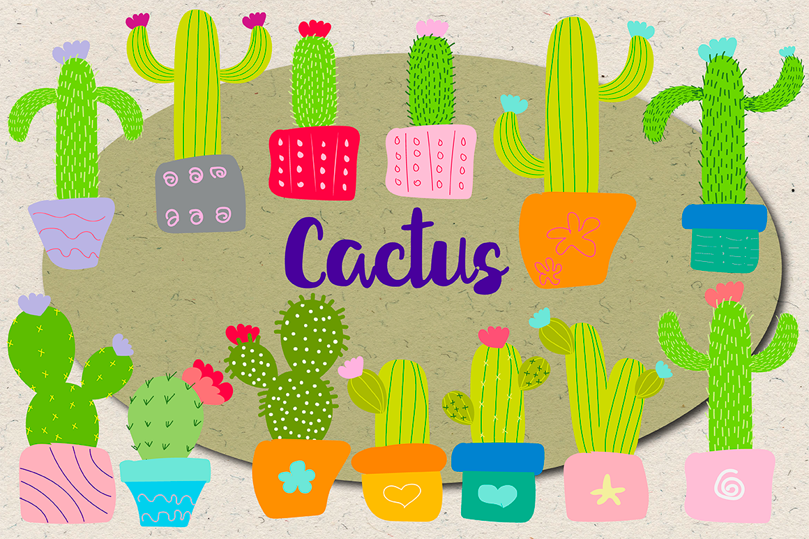 Cactus Doodle Pack example image 1