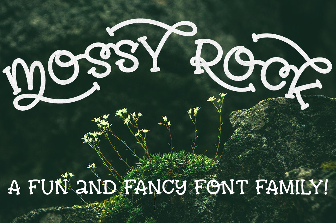 Mossy Rock - fun font family! example image 1