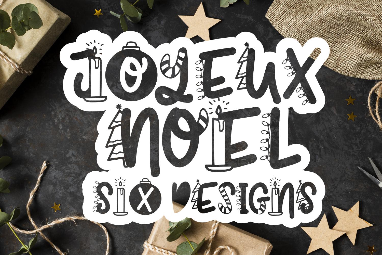 Joyeux Noel Font - Christmas Doodle Font In 6 Designs example image 1