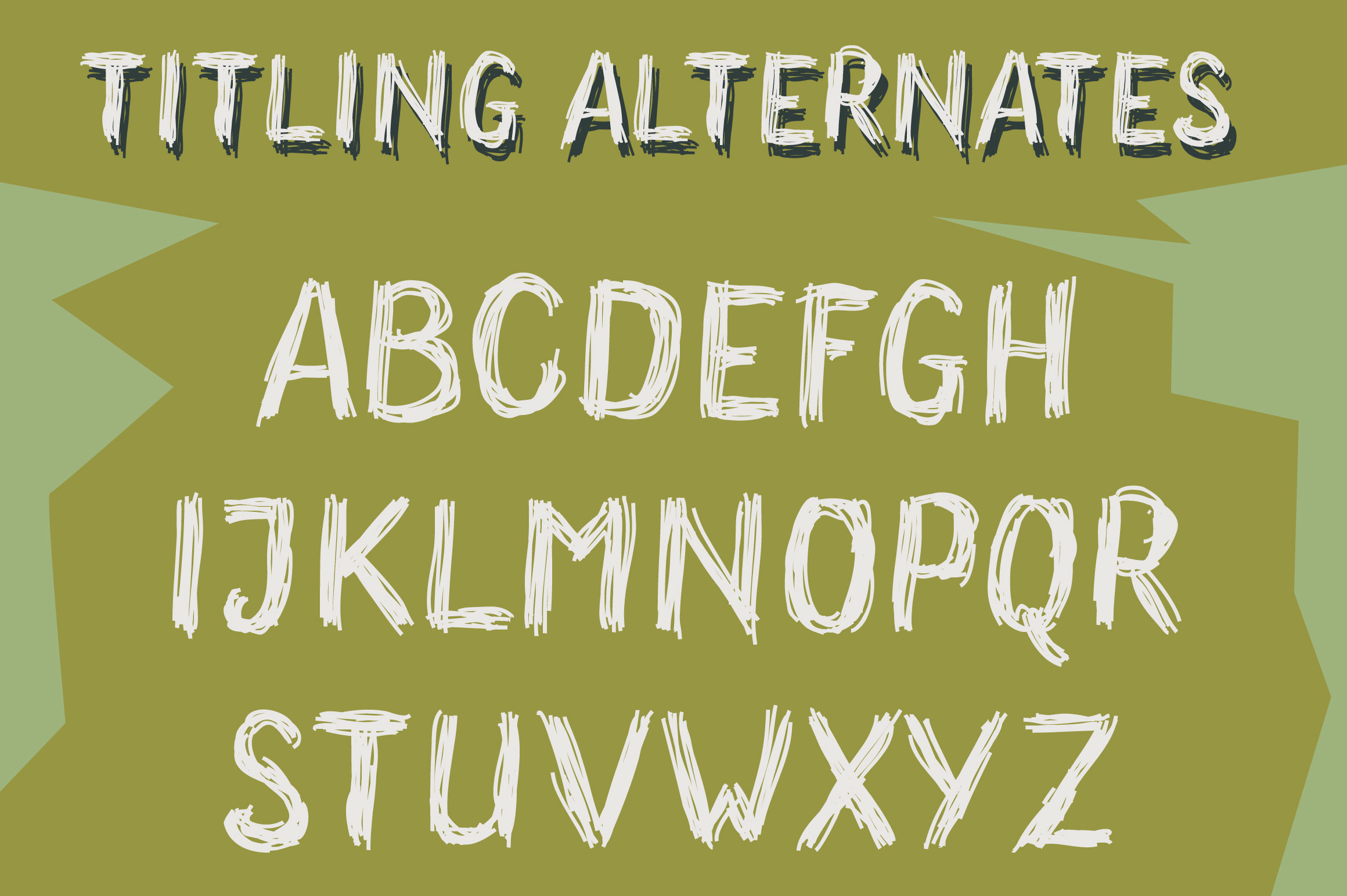 Wonderland Scratch | Pen Sketch Font example image 3