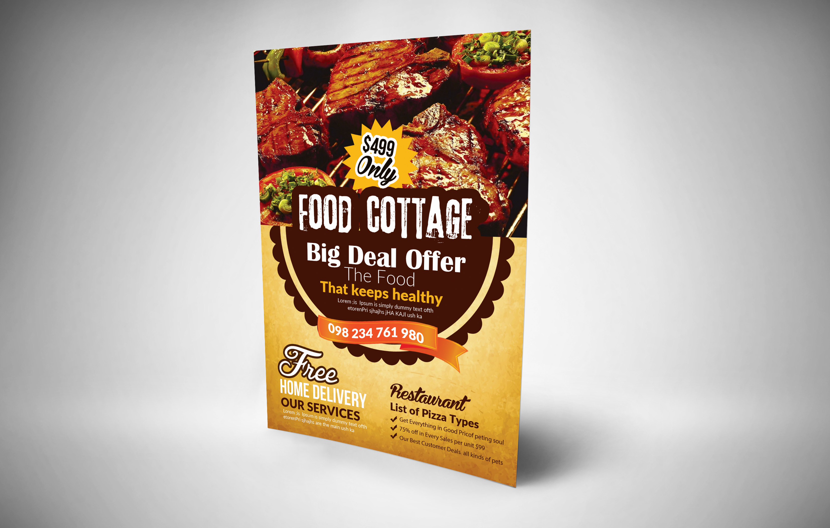 Restaurant Flyer Template example image 2