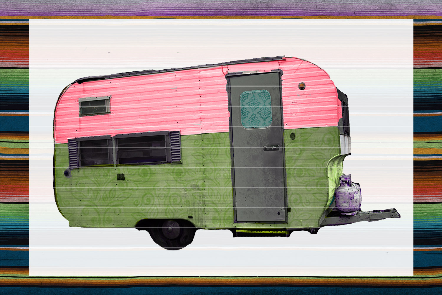 Lime Camper Sublimation Digital Download example image 1