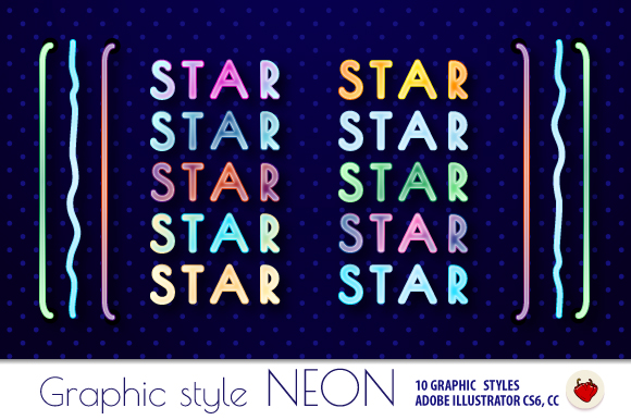 NEON Retro Graphic Styles in the style of 80s. example image 1