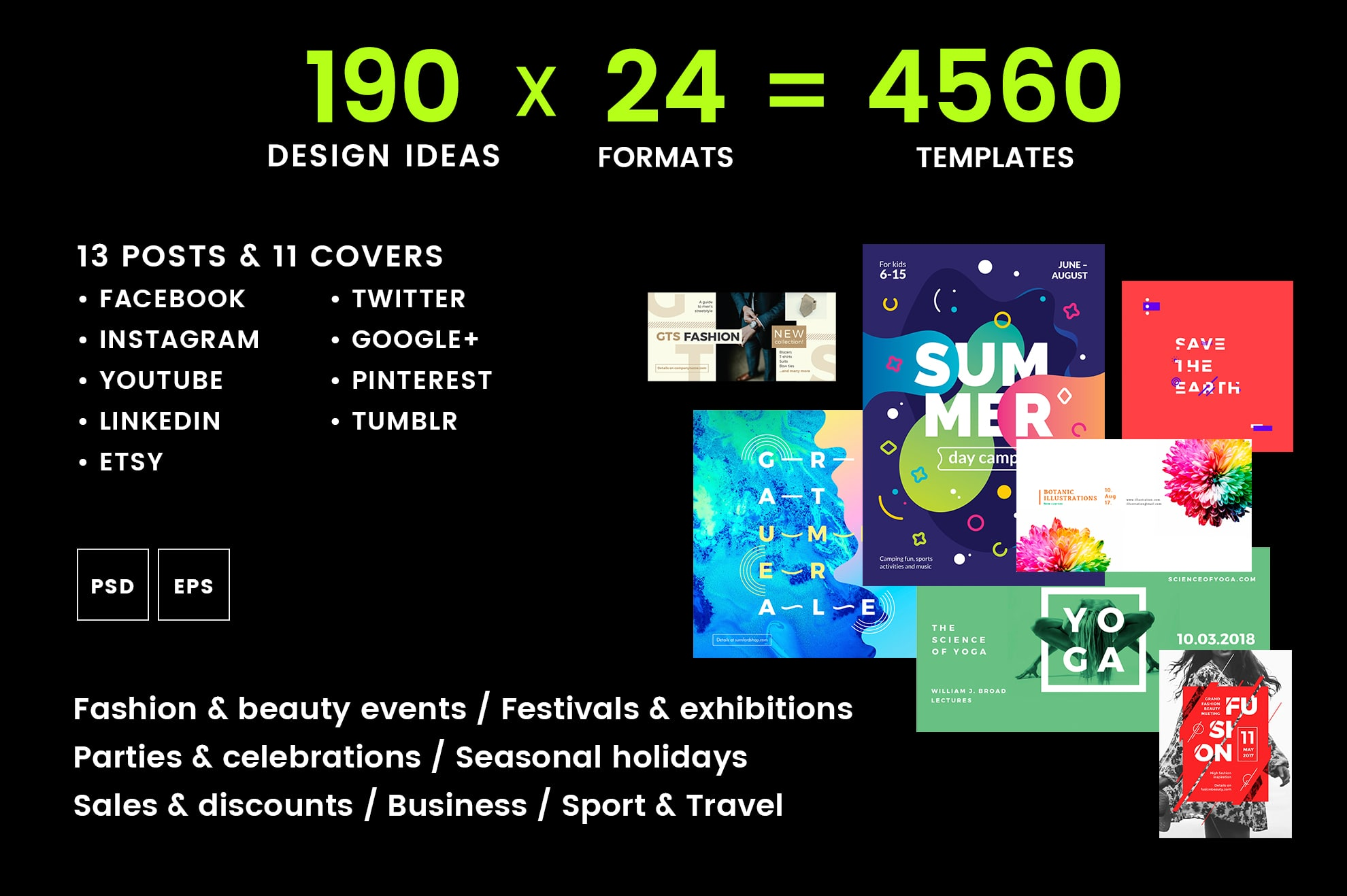 Social Media Cover & Post Design Templates Bundle SALE example image 2