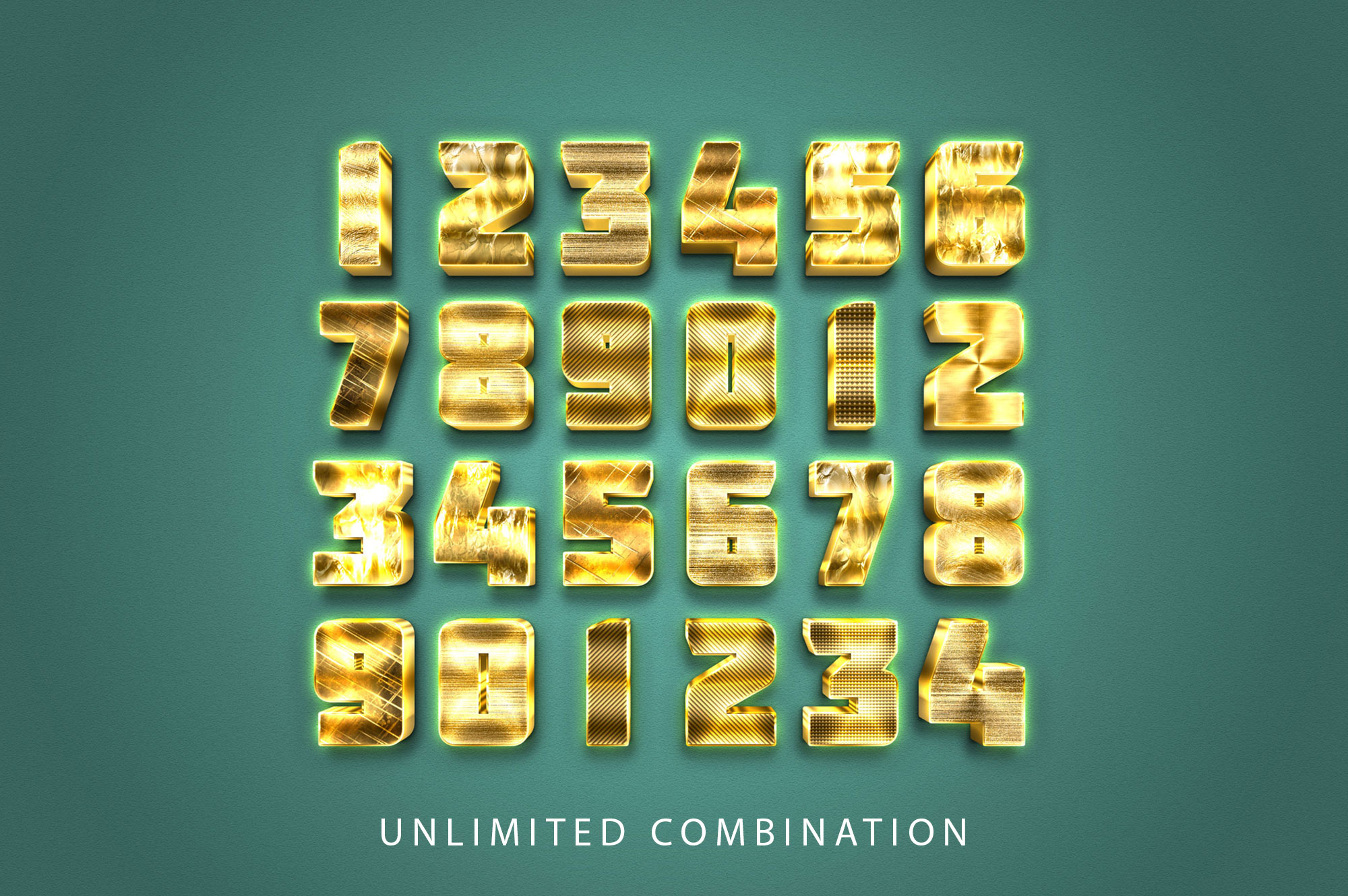 3D Gold Text Effect example image 2